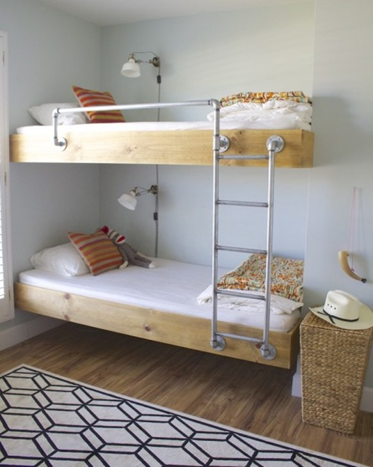 wood and pipe bunks