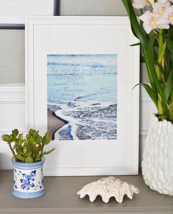 beach watercolor print