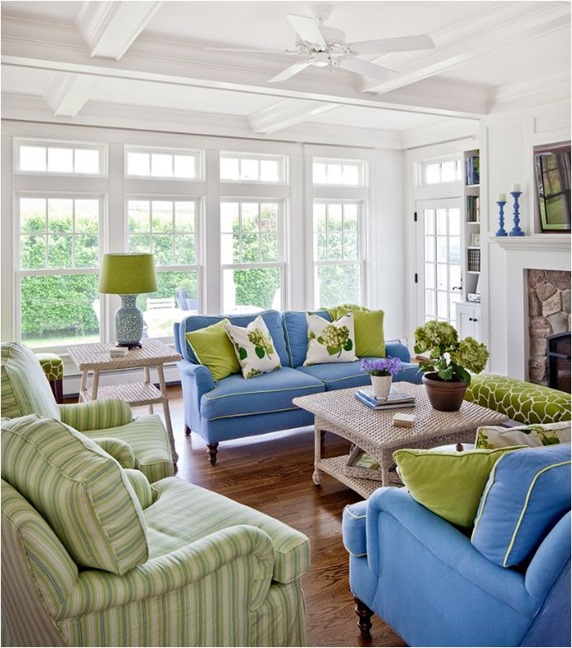 Green Living Room Ideas For Soothing Sophisticated Spaces: Decorating With Analogous Color