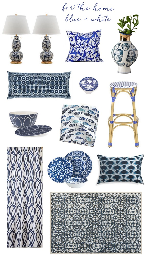 blue and white for the home