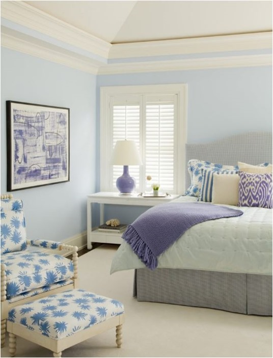 lavender and blue bedroom