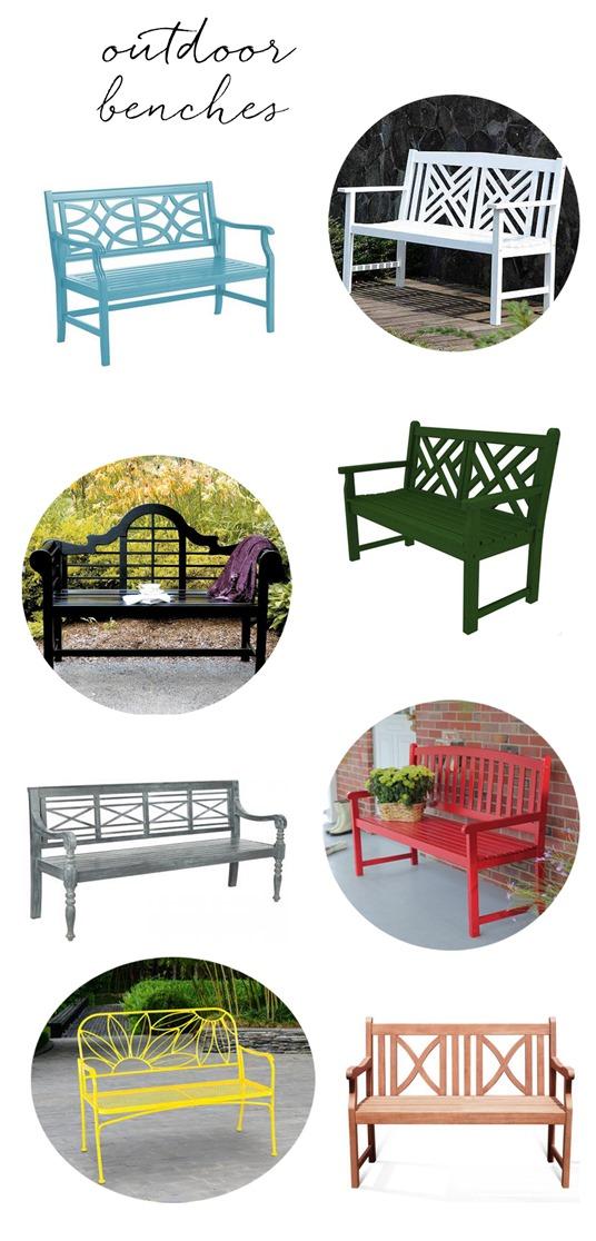 modern outdoor benches