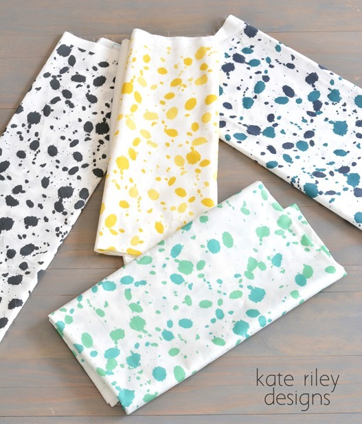 splatter pattern fabric kate riley