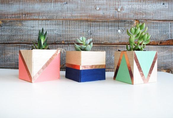 balsa wood planters