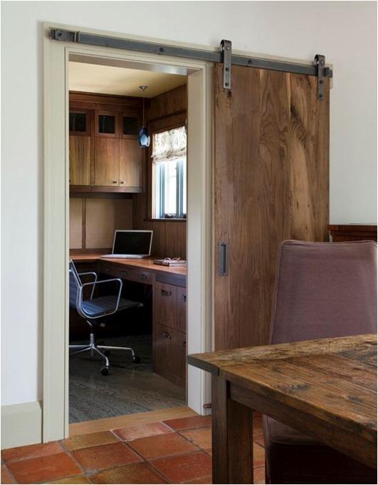 barn door to office