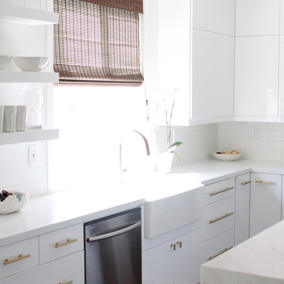 White Kitchen Cabinets Gold Hardware