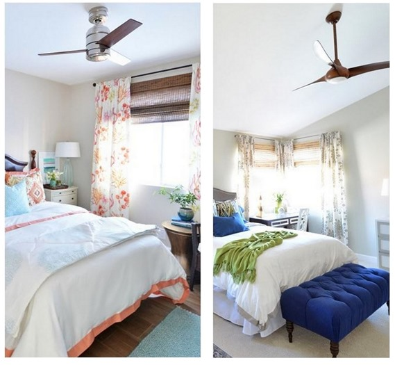 modern ceiling fan in bedroom - Bedroom Ceiling Fans