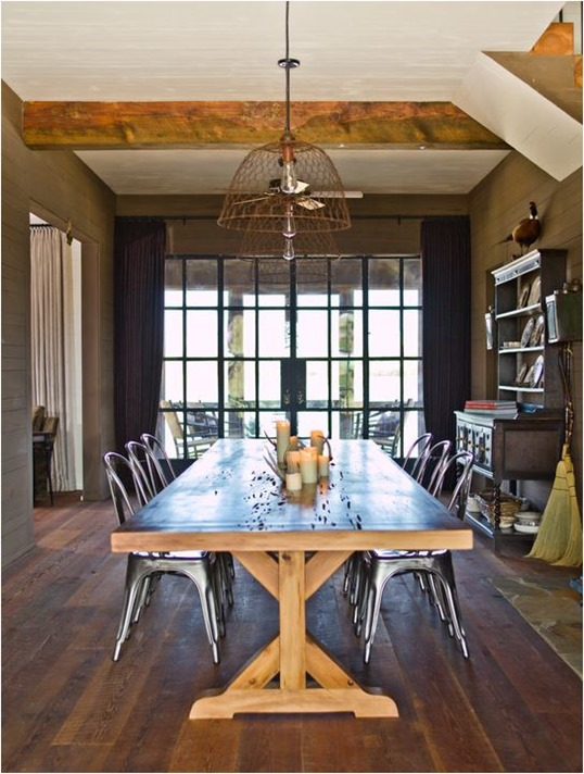 modern farmhouse dining
