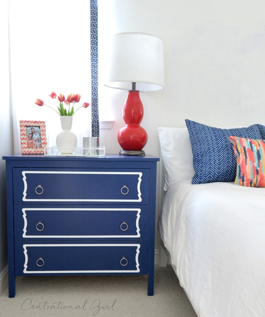 navy ikea koppang with overlays