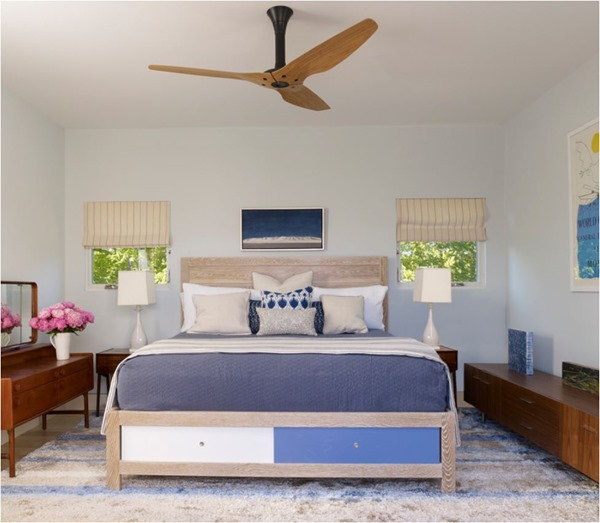 wood and black bedroom ceiling fan - Bedroom Ceiling Fans