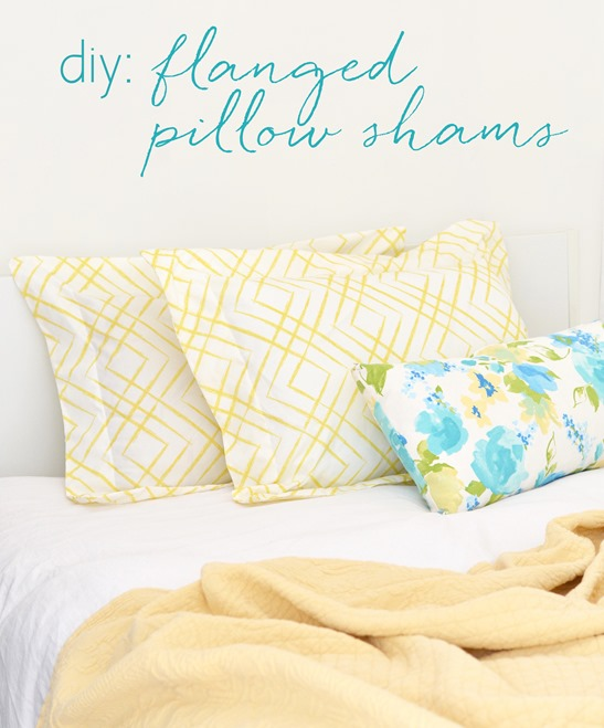 diy flanged pillow shams centsational style. Black Bedroom Furniture Sets. Home Design Ideas