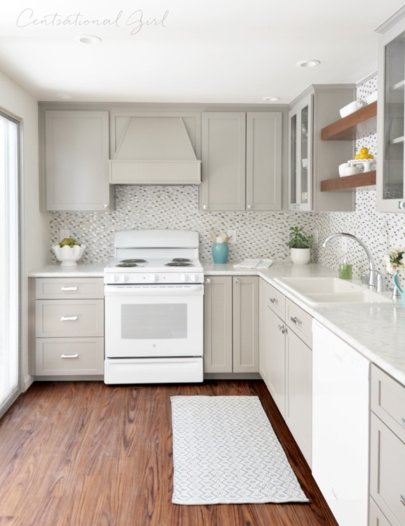 Gray white kitchen remodel centsational girl bloglovin - Creative ways upgrade grey kitchen cabinets beautifully ...
