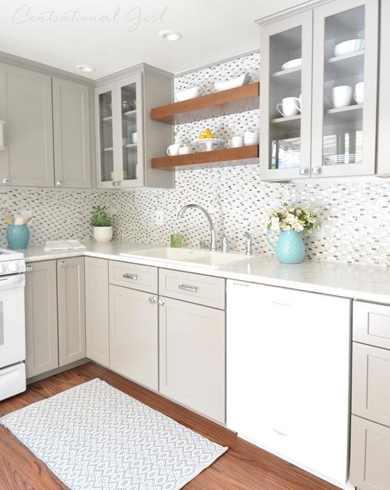 gray white kitchen remodel
