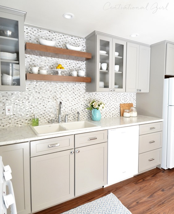 Remodel Kitchen With White Cabinets: Gray + White Kitchen Remodel
