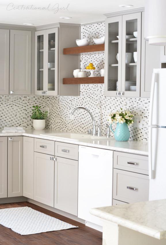 gray white wood kitchen remodel