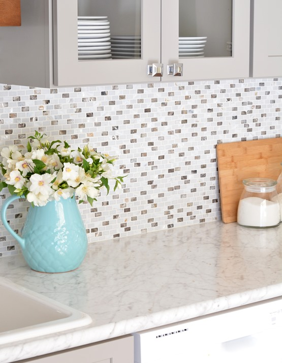 mosaic backsplash formica countertops