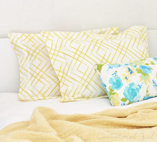 Flanged Pillow Sham Pattern Free: DIY Flanged Pillow Shams   Centsational Style,