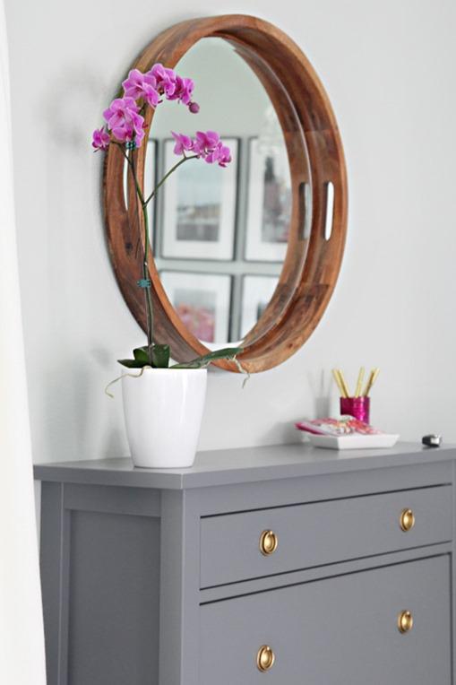 tray turned mirror