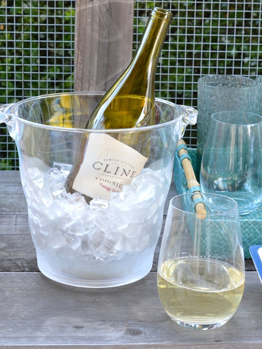 white wine ice bucket