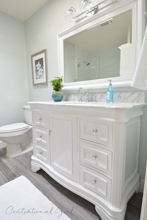 centsational bathroom remodel complete
