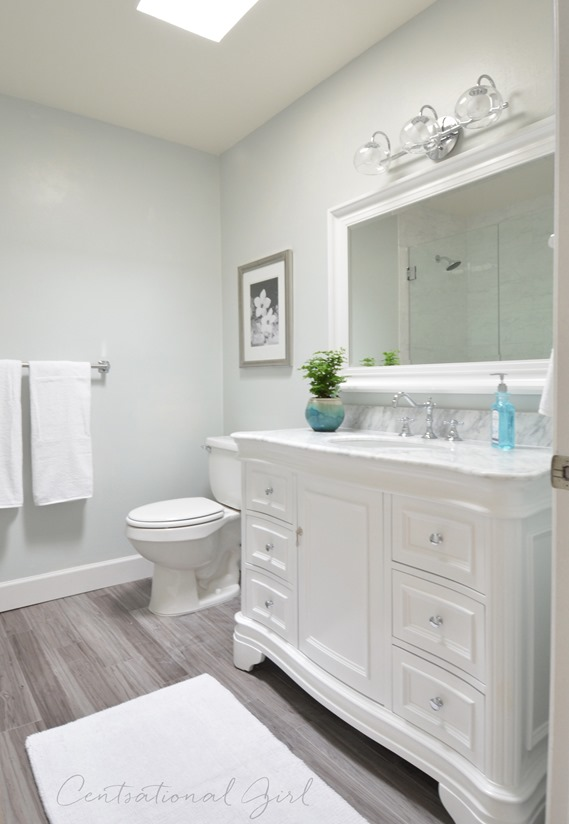 Bathroom remodel complete centsational style for Bathroom remodel 2015