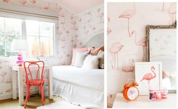 flamingo wallpaper and art