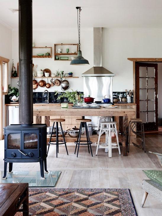 mixed counter stools farmhouse