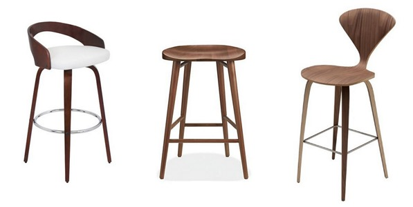 modern wood counter stools