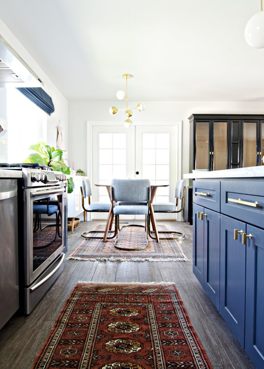navy white kitchen makeover