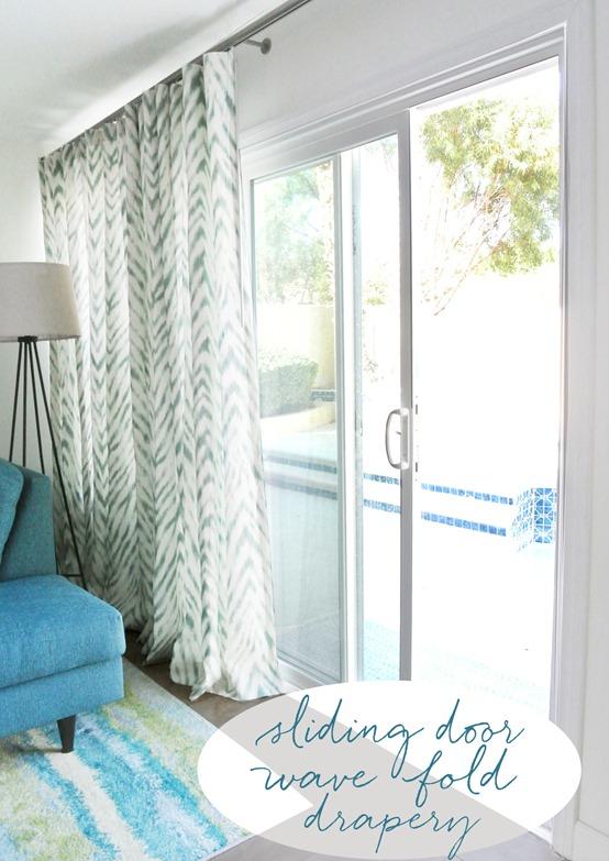 A Stylish Window Treatment For Sliding Doors