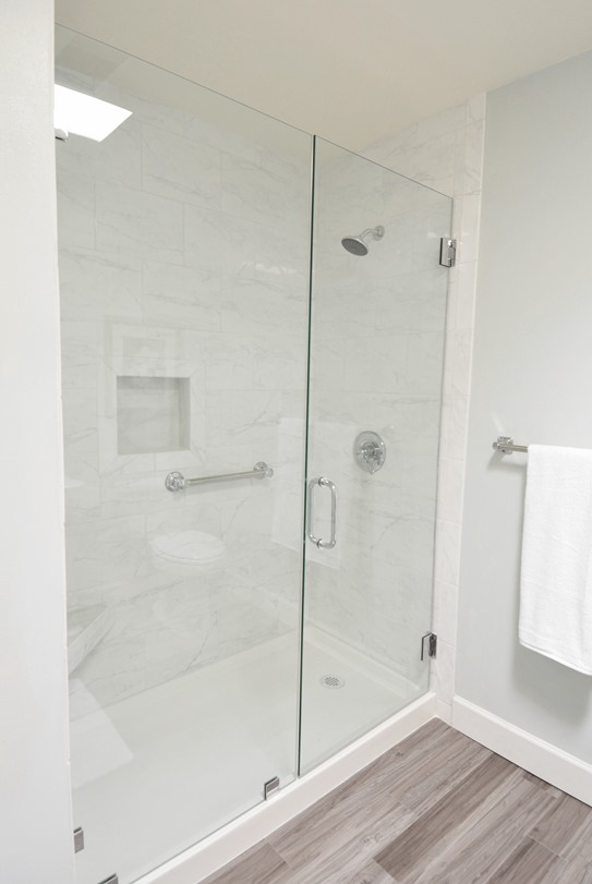 walk in shower side view