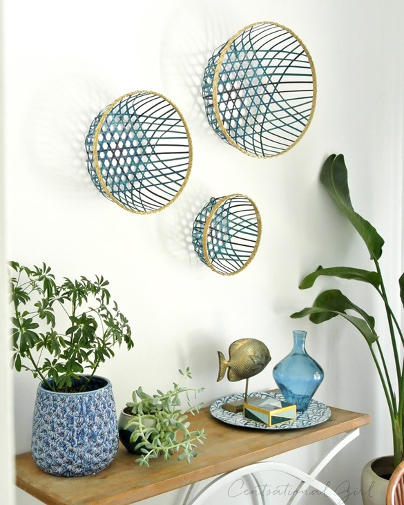 basket trio on wall