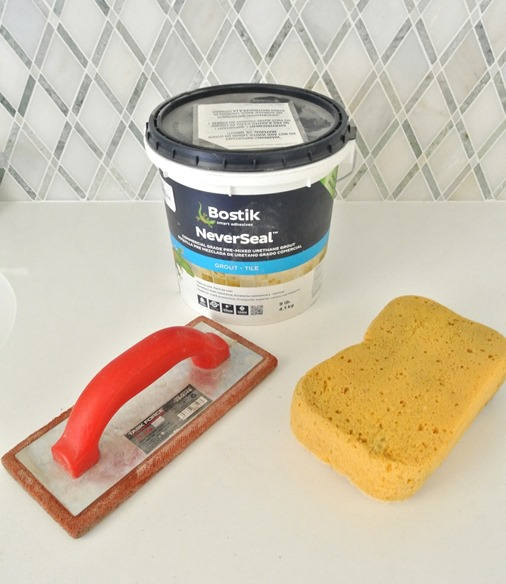 grout and sponge