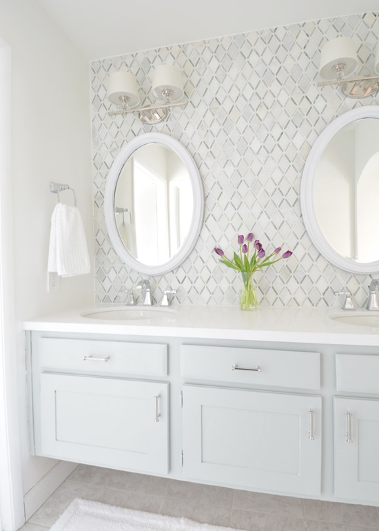 Vanity Light Makeover : Master Bathroom Vanity Makeover Centsational Girl