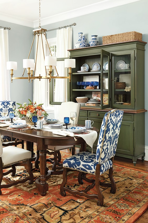Olive green centsational style for Olive green dining room ideas