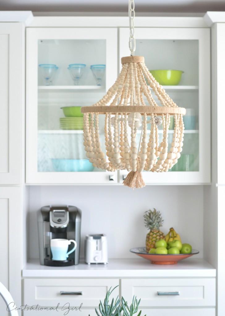 breakfast nook beaded chandelier