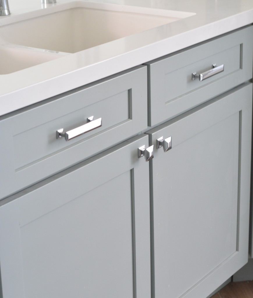 Perfect White Bathroom Vanity With Uneek Glass Cabinet Hardware Contemporary