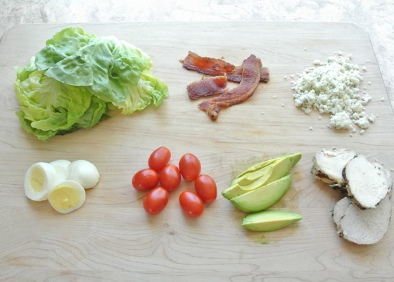 chopped cobb salad ingredients