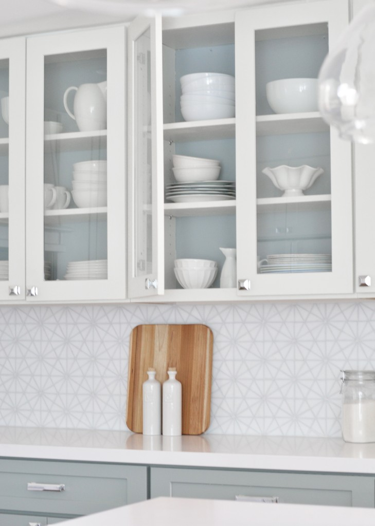 painted interior glass cabinets