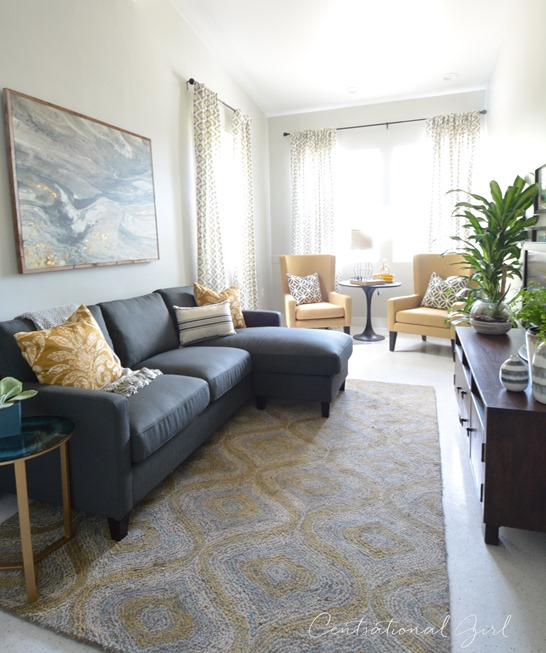 Centsational Style: Furnished Shelter Family Room