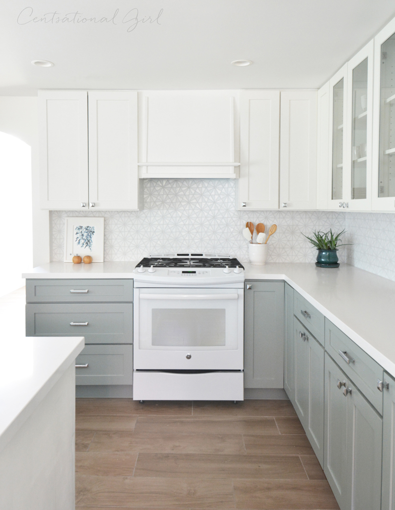 Kitchen remodel centsational girl bloglovin for Upper kitchen cabinets