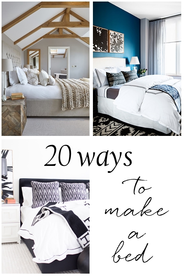 20 ways to make a bed centsational style for How to make a high bed