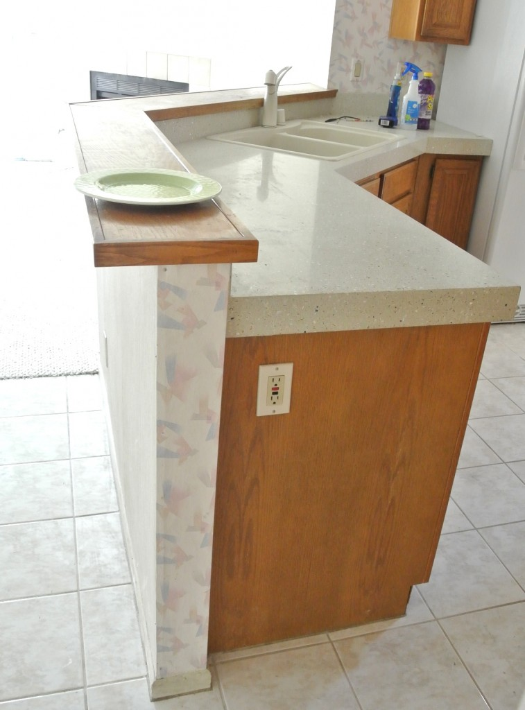 counter height wall