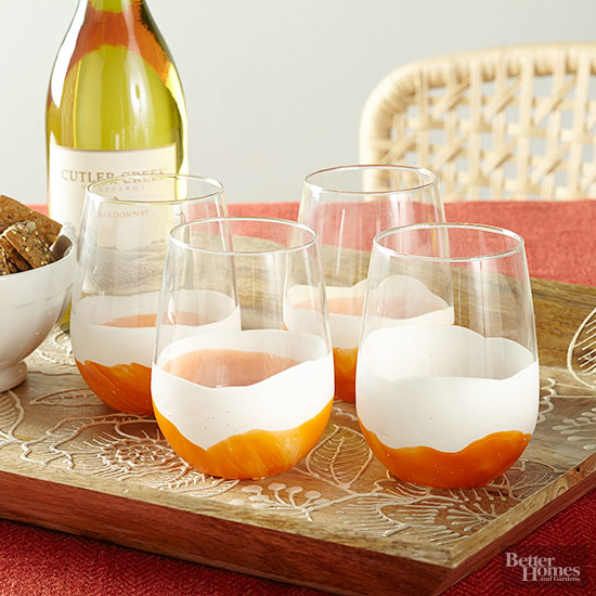 dipped wineglasses