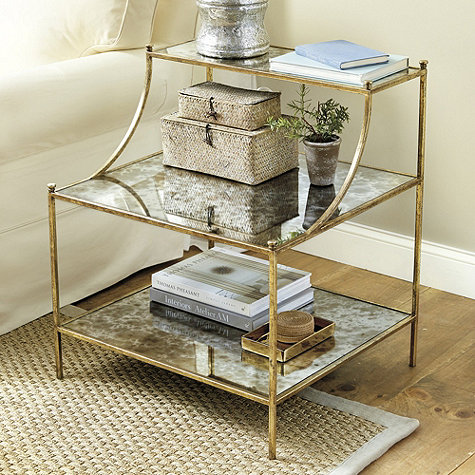 Mod metallic furniture favorites centsational girl for Small gold side table