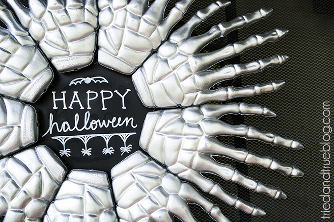 skeleton hands wreath