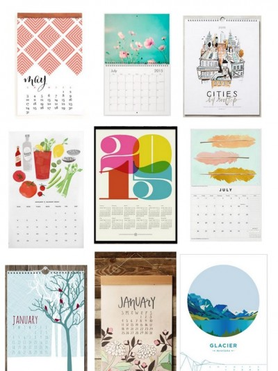2015 wall calendars on etsy