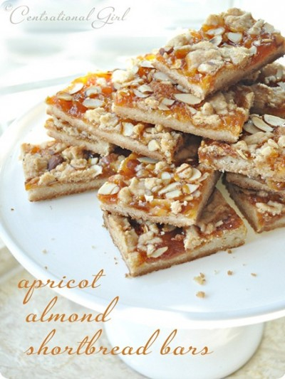 apricot almond shortbread bars centsational girl