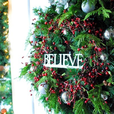 believe christmas wreath