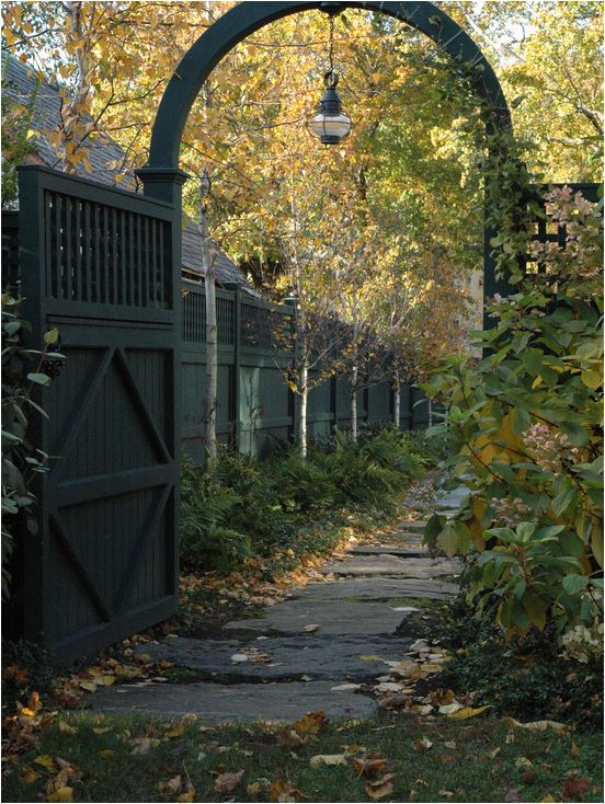 black garden gate